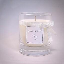 Bougie naturelle parfumée pour la St Valentin