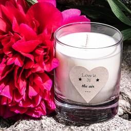 Bougie naturelle love pour la St Valentin