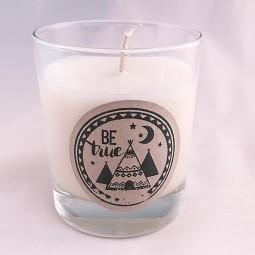 Bougie naturelle parfumée be true fait main
