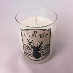 Bougie naturelle de Noël parfumée avec cerf