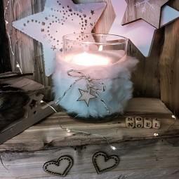 Bougie naturelle parfumée étoile des neiges