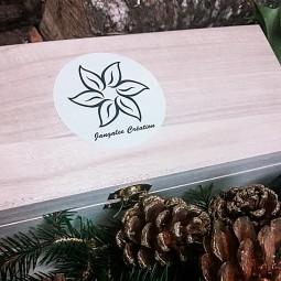 Coffret en bois de bougies naturelles parfumées