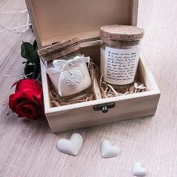 Coffret de mini bougies-bijoux naturelles pour la St Valentin