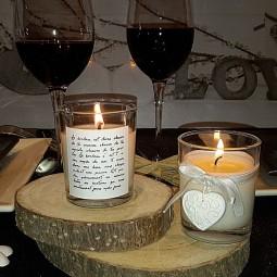 Mini bougies-bijoux parfumées pour dîner de St Valentin