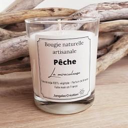 Bougie naturelle parfum pêche