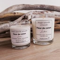 Bougies naturelles parfumées fleur de coton