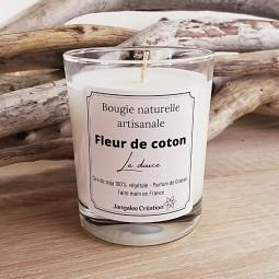 Bougie naturelle parfum fleur de coton