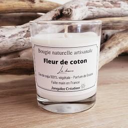Mini bougie naturelle fleur de coton