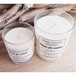Bougies naturelles parfum fleur de coton
