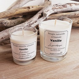 Bougies naturelles vanille