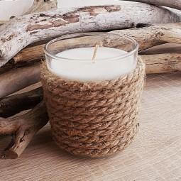Bougie naturelle parfumée avec corde de jute