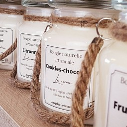 Bougies naturelles lanterne parfumées