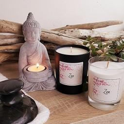 Bougie naturelles relaxantes zen