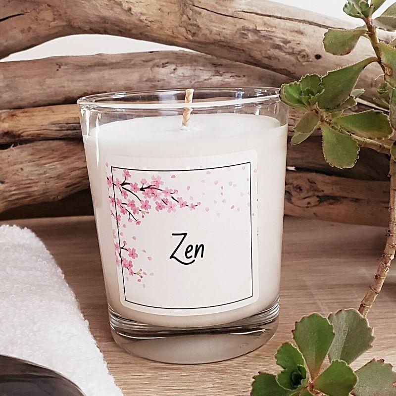 Bougie parfumée zen à la cire de soja