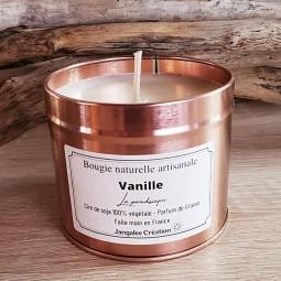 Bougie naturelle boite or rose