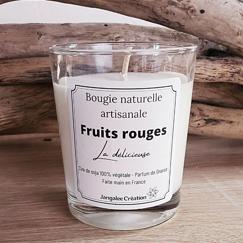 Bougie naturelle parfum fruits rouges
