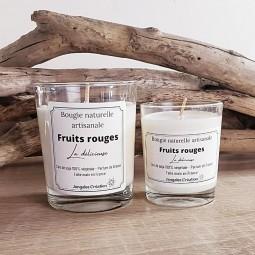 Bougies naturelles parfum fruits rouges