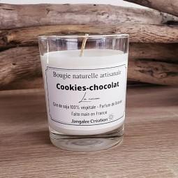 Mini bougie à la cire de soja parfum cookies-chocolat