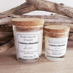 Bougies végétales parfum cookies-chocolat