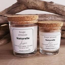 Bougies sans parfum 100% naturelles avec couvercle liège