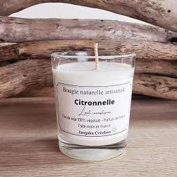 Bougie végétale parfum citronnelle
