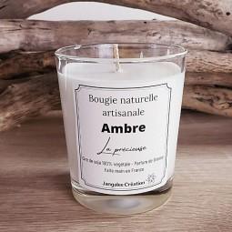 Bougie naturelle parfum ambre
