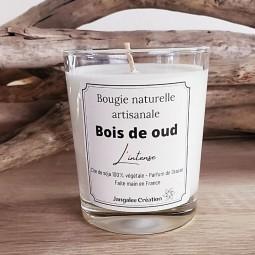 Bougie naturelle parfum bois de oud