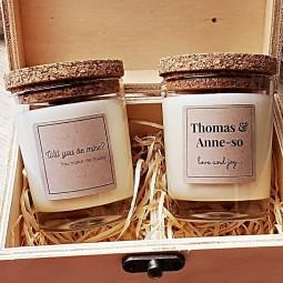 Bougies naturelles personnalisées pour demande en mariage